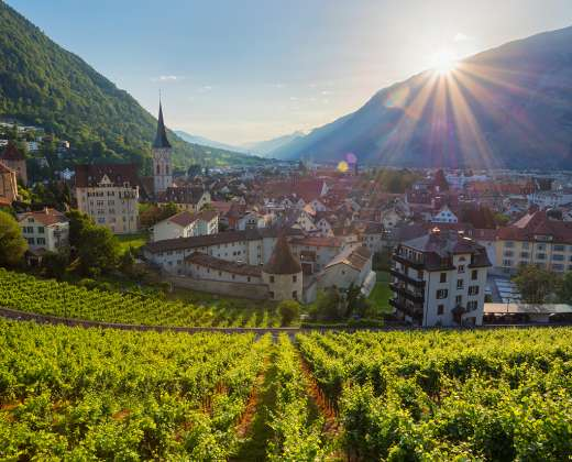 Šveicarija. Churas