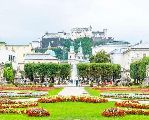Austrija. Zalcburgas. Mirabelės sodai
