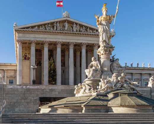 Austrija. Viena. Parlamentas