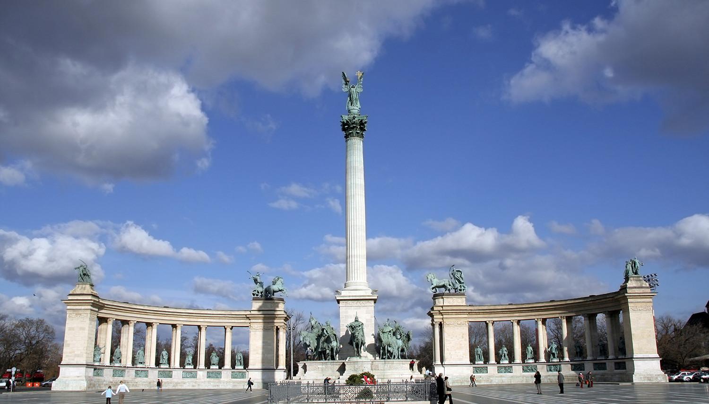 Vengrija. Budapeštas. Didvyrių aikštė