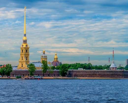 Rusija. Sankt Peterburgas. Petropavlovskio tvirtovė
