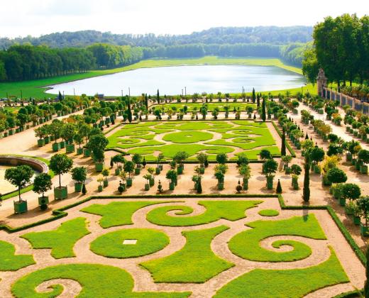 Prancūzija.  Versalio rūmų sodai