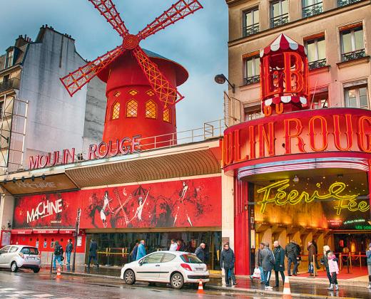 Prancūzija. Paryžius. Moulin Rouge