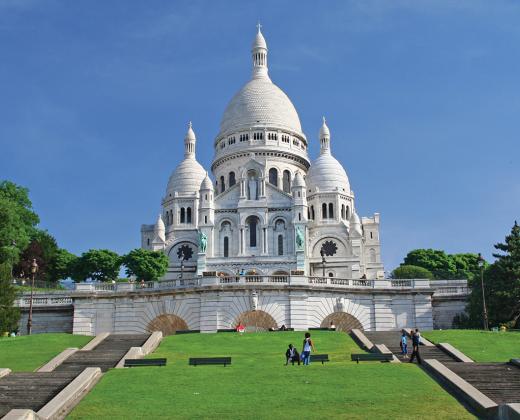 Prancūzija. Monmartras. Šv. Širdies bazilika