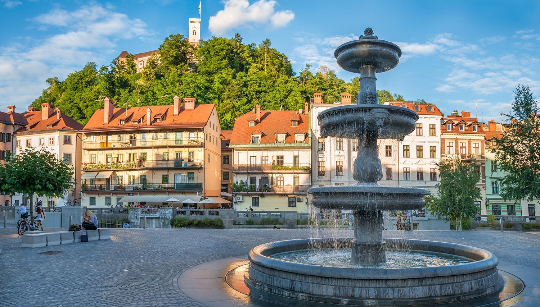 Slovėnija. Liubliana. Robba fontanas