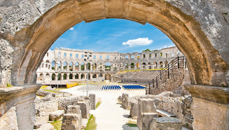 Kroatija. Pula. Amfiteatras