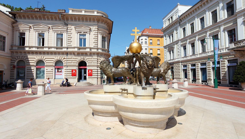 Vengrija. Segedo miesto aikštė