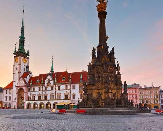 Čekija. Olomoucas. Rotušė
