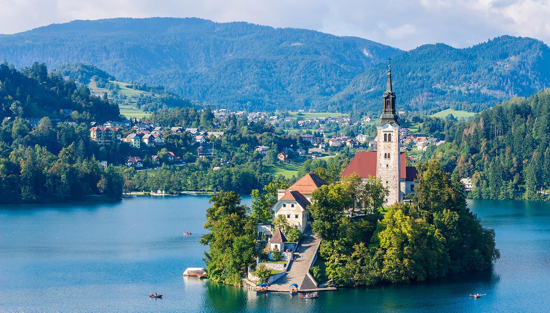 Slovėnija. Bledas. Šv. Marijos bažnyčia