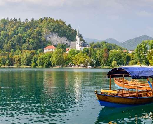 Slovėnija. Bledas. Tradicinis laivelis