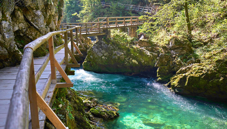 Slovėnija. Bledas. Vintgaro tarpeklis