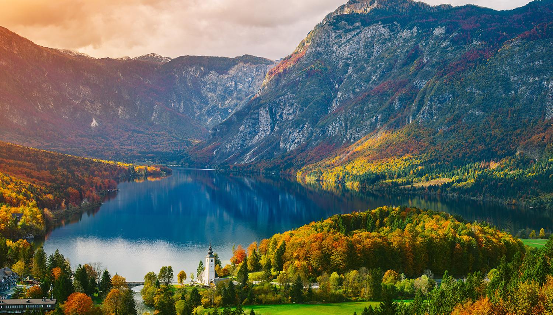 Slovėnija. Bledas. Triglavo kalnas