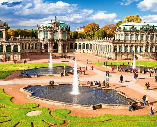 Vokietija. Drezdenas. Cvingerio muziejų kompleksas