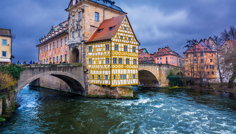 Vokietija. Bambergas. Senoji Rotušė