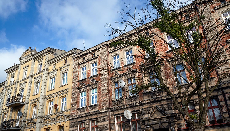 Gniezno namų fasadai
