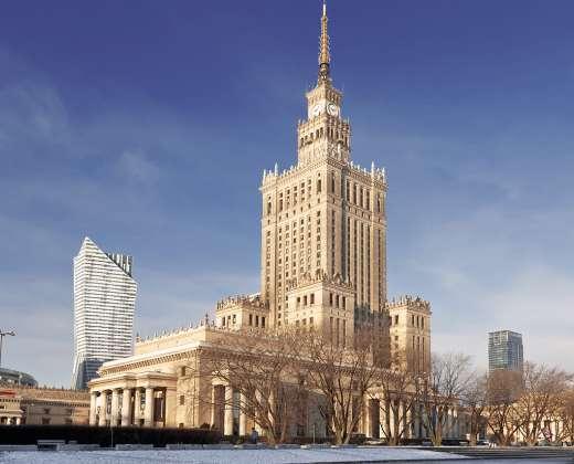 Varšuva. Kultūros ir mokslų rūmų pastatas