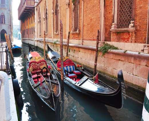 Venecija. Gondolos