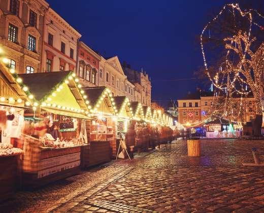 Ukraina. Lvovas. Kalėdinė mugė