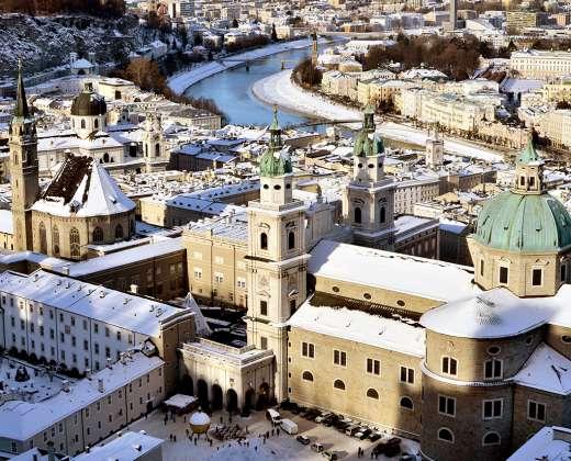 Austrija. Zalcburgo panorama