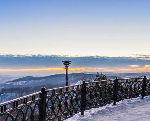 Ukraina. Lvovas. Miesto panorama nuo pilies kalno.