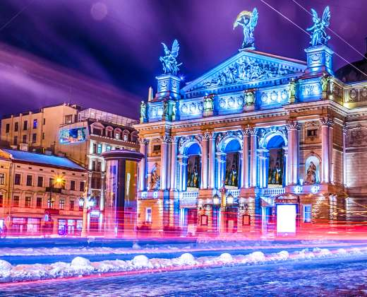 Ukraina. Lvovas. Operos teatras
