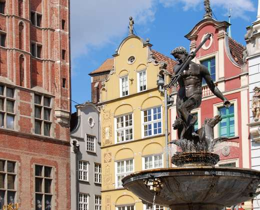Gdanskas. Neptūno fontanas