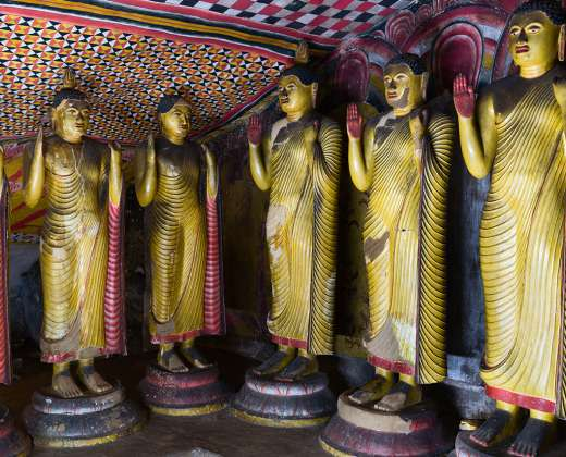 Šri. Lanka. Dambulos šventykla