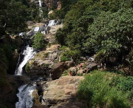 Šri Lanka. Ravana Ella kriokliai