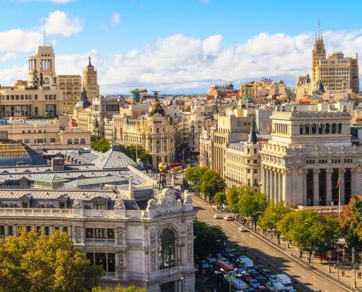 Ispanija. Madridas. Gran Via gatvė