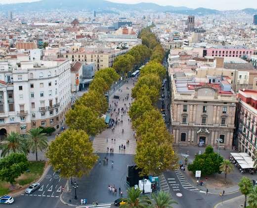 Ispanija. Las Ramblas gatvė