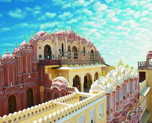Indija. Džaipuras. Hawa Mahal rūmai