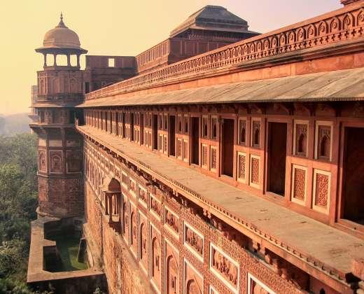 Indija. Agra Fortas