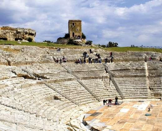 Sicilija. Sirakūzai. Graikų teatras