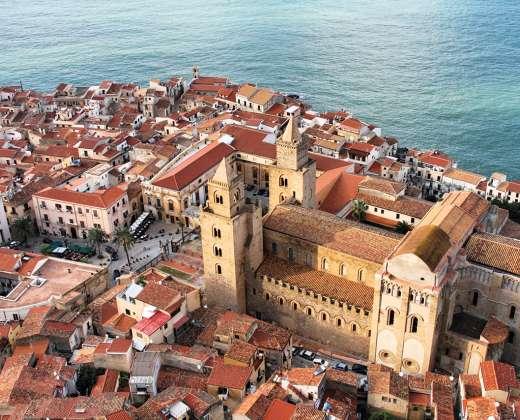 Sicilija. Čefalu katedra