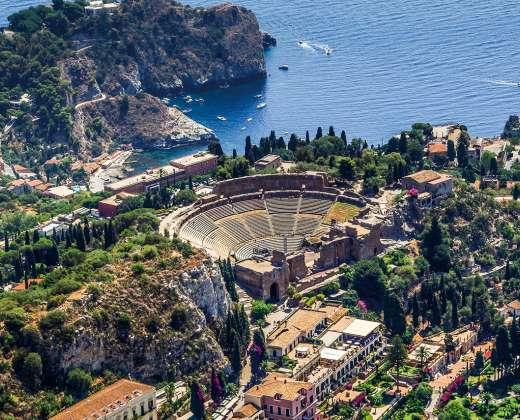 Sicilija. Taormina. Graikų teatras