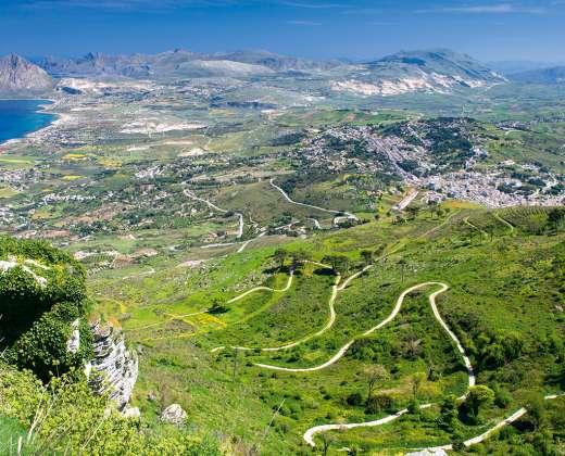 Sicilija. Kelias link Eričės