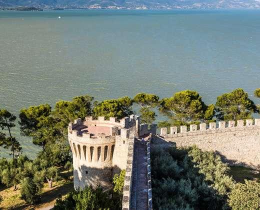 Italija. Castiglione del Lago pilis