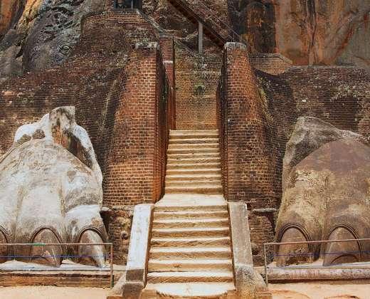 Šri Lanka. Įėjimas į Liūto uolą