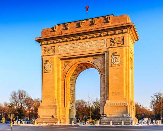 Rumunija. Bukareštas. Triumfo arka