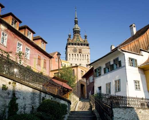 Rumunija. Sigišoaras. Laikrodžio bokštas