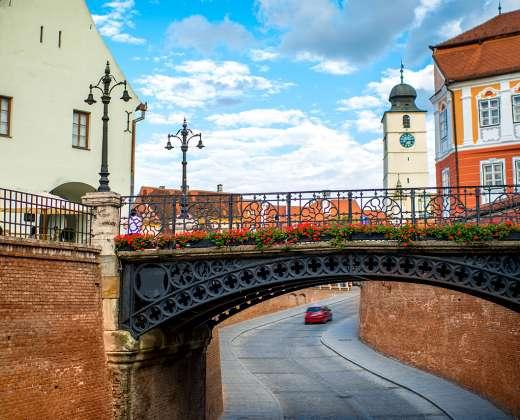 Rumunija. Sibiu senamiestis