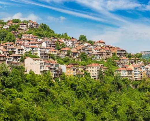 Bulgarija. Veliko Tirnovo miestas