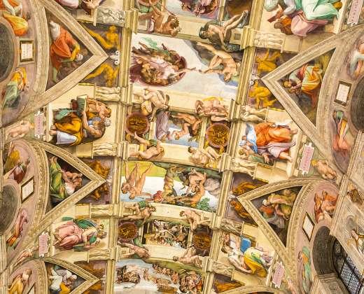 Italija. Vatikano muziejus. Siksto koplyčios lubos