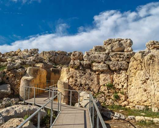 Malta. Gozo sala. Džgantijos šventykla