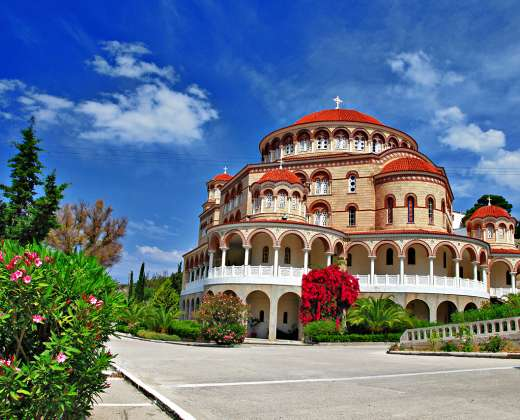 Graikija. Eginos sala. Šv. Nektarijaus vienuolynas