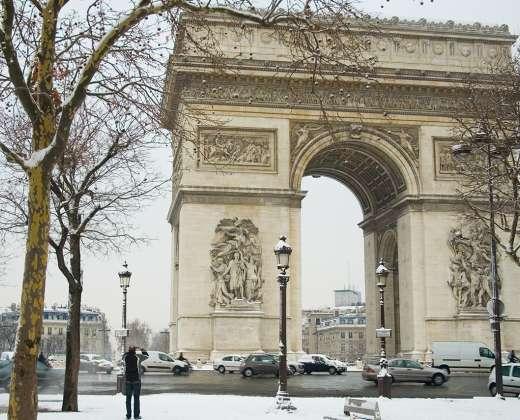 Paryžius. Triumfo arka