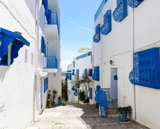 Tunisas. Sidi Bou Said miestelis