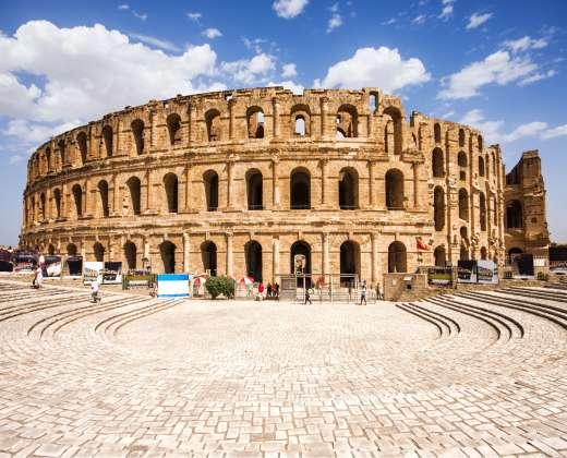 Tunisas. El Džemas. Romėnų amfiteatras