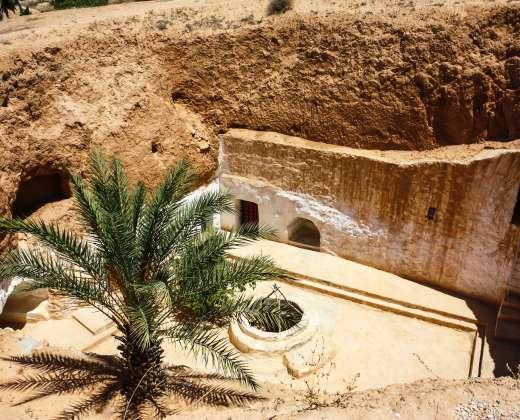 Tunisas. Matmata. Požeminiai būstai