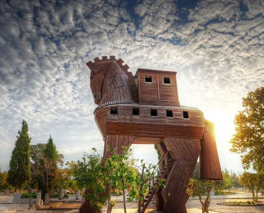 Turkija. Troja. Trojos arklys